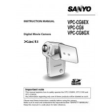 Sanyo Xacti VPC-CG6 Flash Digital Camcorder